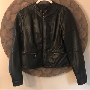 Women's Faux Leather Moto Jacket
